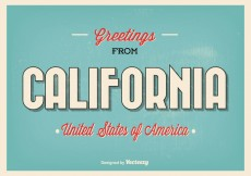 Free vector Greetings From California Illustration #18698