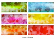 Free vector Leaves Banner Backgrounds #12256