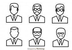 Free vector Man Outline Icons #19022