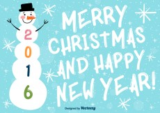 Free vector Merry christmas and happy new year background #18904