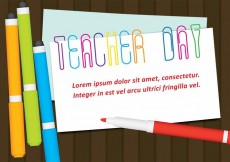 Free vector Vector Teacher Day Paperclips #14766