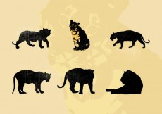 Free vector Vector Tiger Silhouettes Free #13327