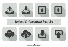 Free vector Upload and Download Icon Set #19263