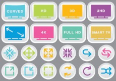Free vector Video & Multimedia Colorful Icons #16300