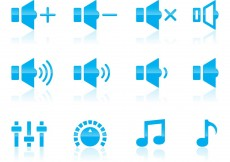 Free vector Volume And Audio Icons #12310