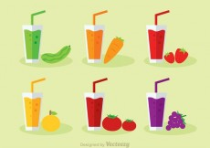 Free vector Vegetable And Fruit Juice Vector #13801