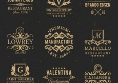Free vector Vintage badges #14769