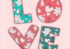 Free vector Vintage card with love #17099