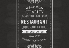 Free vector Vintage restaurant label #12867