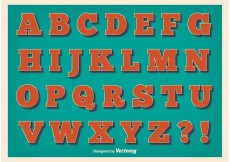 Free vector Vintage Style Alphabet #18142