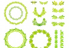 Free vector Watercolor green frames #13120