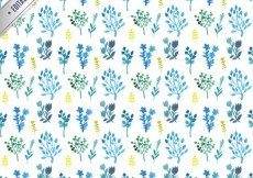 Free vector Watercolor herbs pattern #14713