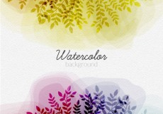 Free vector Watercolor leaves background #13692