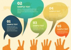 Free vector Watercolor speech bubbles infographic #14723