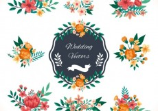 Free vector Wedding decoration in floral style #15020
