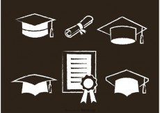 Free vector White Graduate Vector Icons #20113