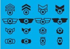 Free vector Winged Military Badge Vectors #16806