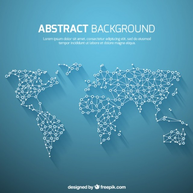 Free vector World map background in abstract style #17914