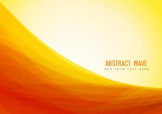 Free vector yellow color abstract wave #18968
