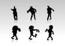 Free vector Zombie Silhouettes Vectors Free Download #13975