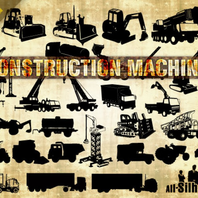 Free vector 38 Vector Construction Machines #23647