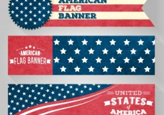 Free vector American Flag Banners #27757