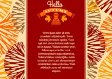 Free vector Autumnal greeting template #24486