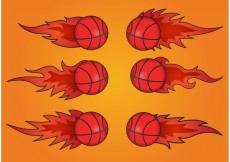 Free vector Basketball on Fire Vectors #23101