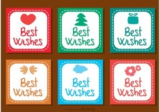 Free vector Best Wishes Square Icons Vector #27626