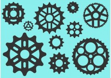 Free vector Bike Sprocket Free Vector Silhouettes #23137