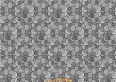 Free vector Black And White Abstract Circle Pattern #26404