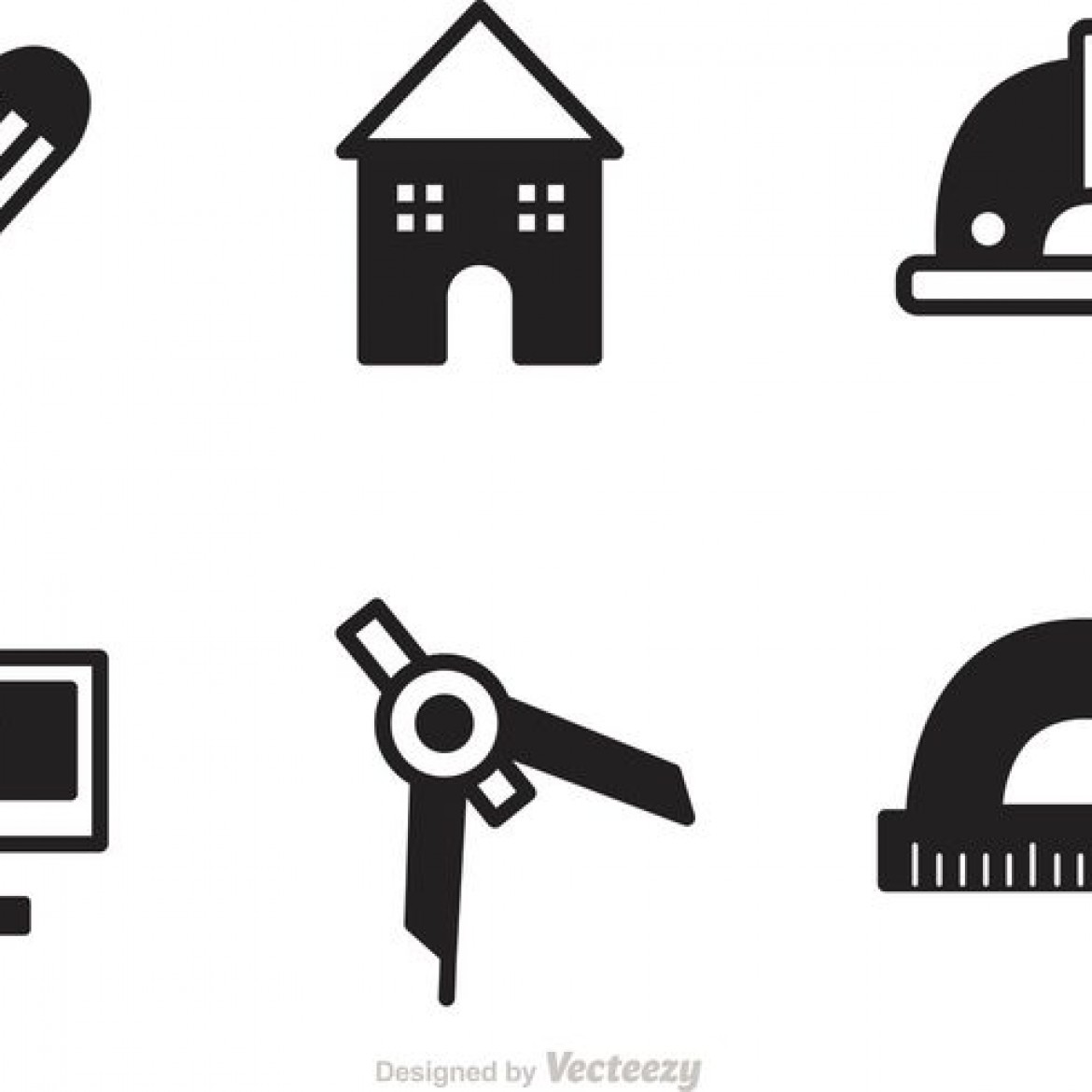 Free vector black architecture tools icons vector 22289 for Architecture design tools free