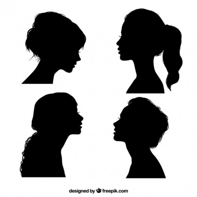 Free vector Black girl silhouettes #22485