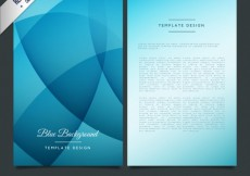 Free vector Blue bruchure template in abstract style #27812