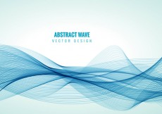 Free vector Blue line waves background vector #25702