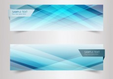 Free vector Blurred line banners in blue tones #21934
