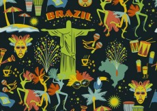 Free vector Brazilian pattern in colorful style #24446