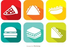 Free vector Bright Food Vector Icons #28123