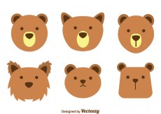 Free vector Brown Bear Face Vectors #25924