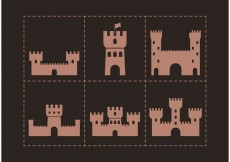 Free vector Brown Fort Vector Icons #23713