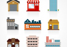 Free vector Buildings set #21814
