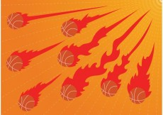 Free vector Burning Basketball on Fire Vectors #23027