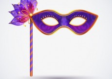 Free vector Carnival mask in purple tones #21228