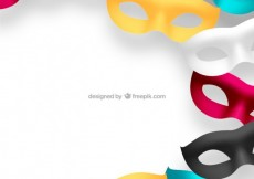 Free vector Carnival masks in different colors #21395