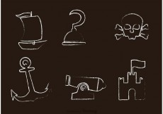 Free vector Chalk Drawn Pirate Icons Vector #22723