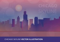 Free vector Chicago Skyline Vector Illustration #26054