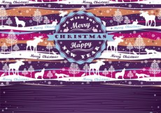 Free vector Christmas card with pattern in the background #24146