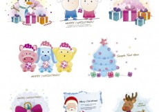 Free vector Christmas cute illustration  #26995