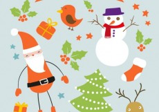 Free vector Christmas elements pack #20283