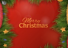 Free vector Christmas garland background #27643